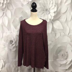 American Eagle Soft & Sexy Maroon Sweater XL